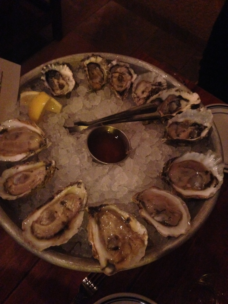 A dozen chef's selection oysters