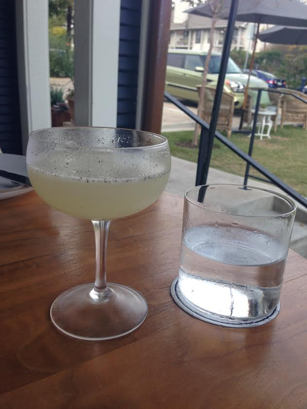 Pineapple Daiquiri: El Dorado 8 yr rum, pineapple juice, vanilla bean syrup, allspice dram