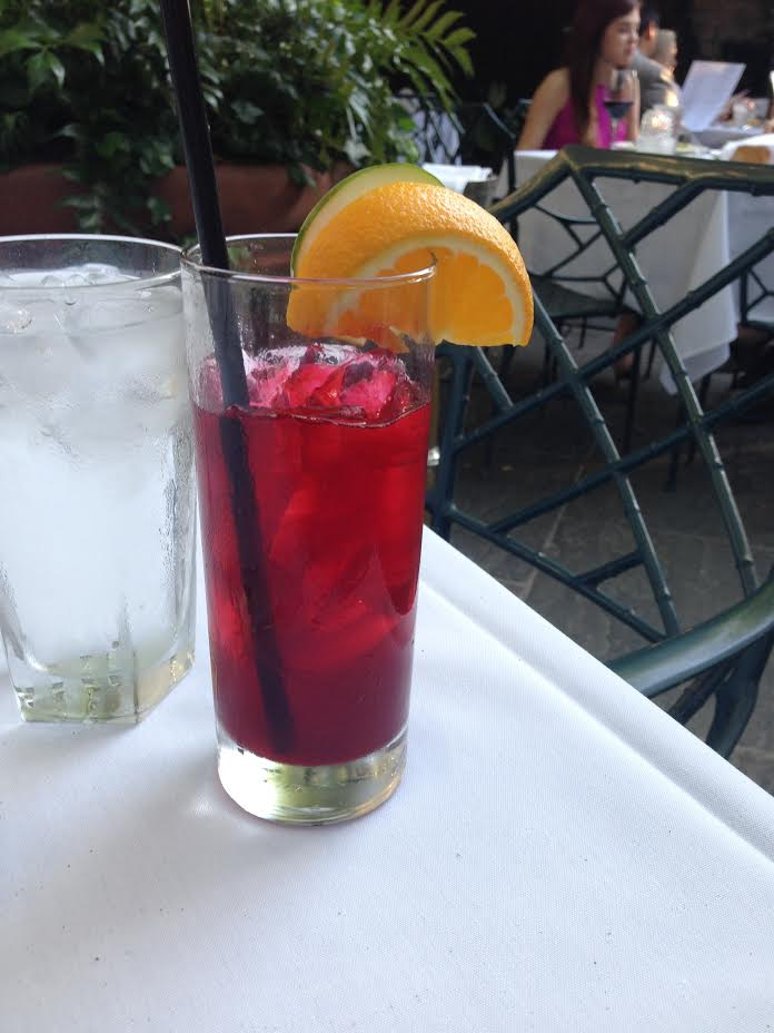 Cucumber cooler with hibiscus tea - very refreshing. The boyfriend got a vodka collins which he enjoyed too.