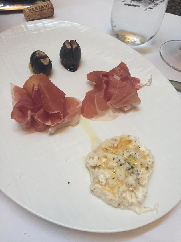 Burrata with Prosciutto Riserva, local figs and drizzled with honey